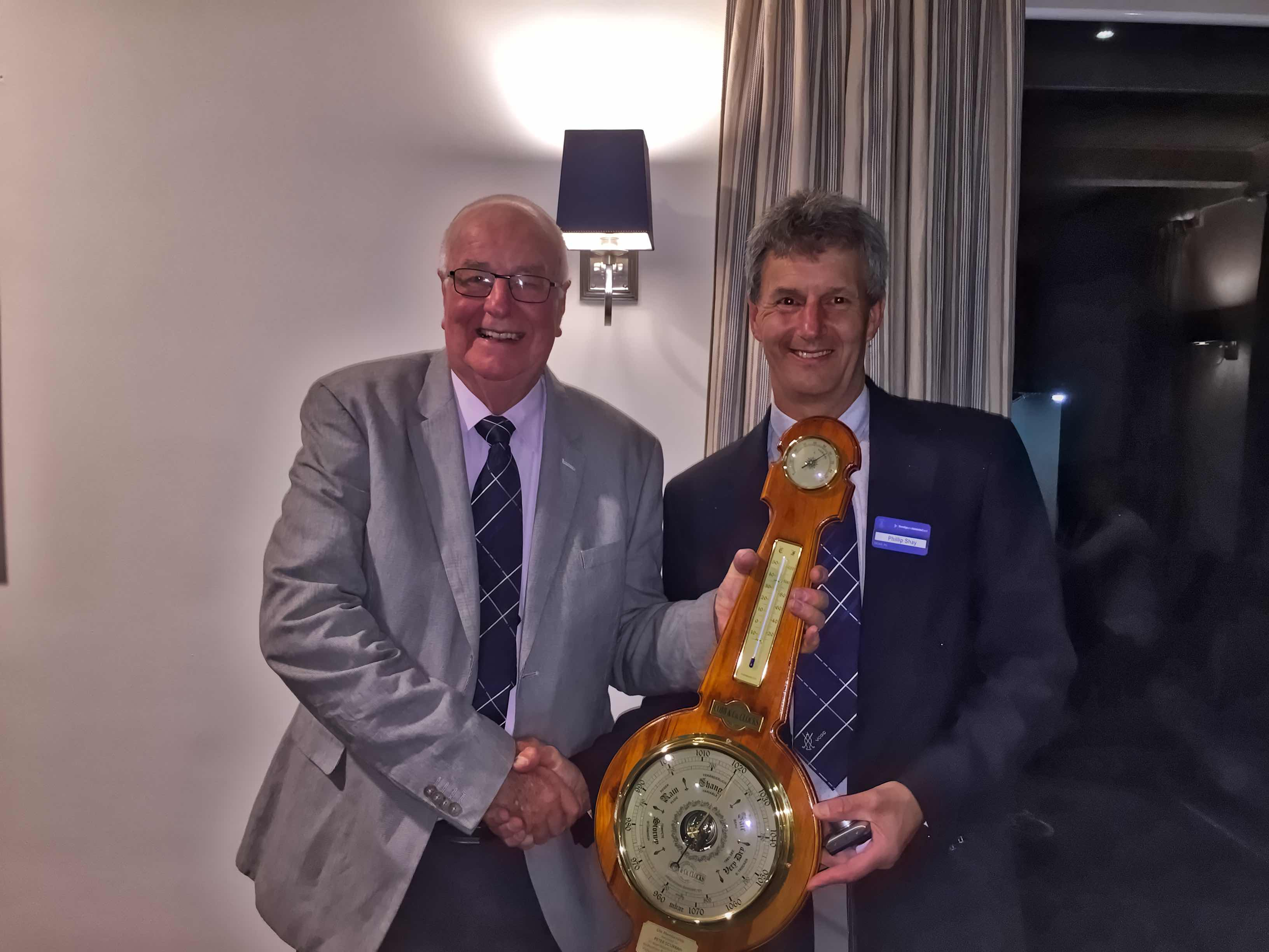 Photo of Peter Scurrah becoming Life Member of VCGC - 23 Nov 2016